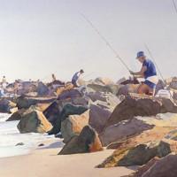 Fishing at Fort Macon